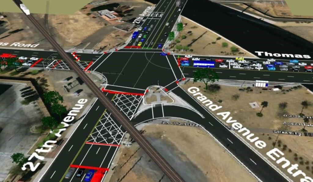 Grand Avenue Railroad VISSIM Analysis, City of Phoenix