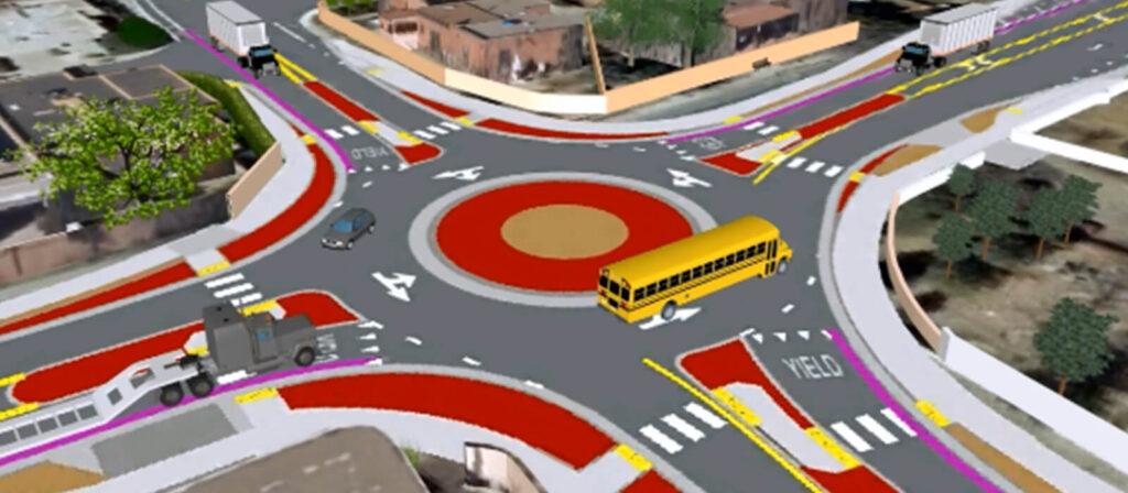 VISSIM Rio Grande Roundabout, City of Albuquerque
