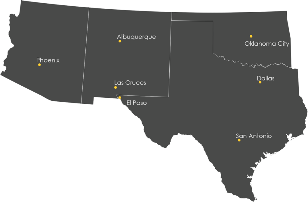 Lee Engineering locations across the United States.