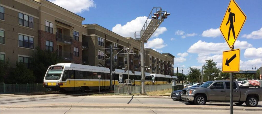 Lee Engineering helped DART plan and build the last mile connections seen here for the DAER Red and Blue Lines in Dallas, Garland, Plano, and Richardson, TX.
